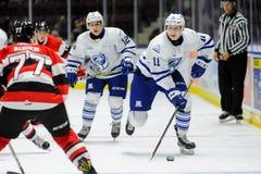 Mississauga Steelheads vs Ottawa 67 Hockeylek Royaltyfria Foton