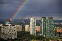 Mississauga West of Toronto Rainbow Stock Images