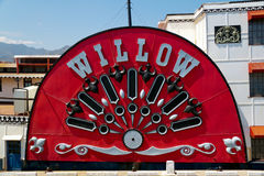 Mississipi Willow steamboat side wheel Stock Photos
