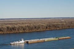 Mississippe Fluss-Schlepperboot Lizenzfreie Stockfotos