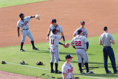Mississippi Braves Pre-Game Warmup Stock Photos