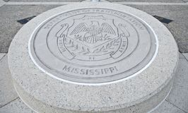 Mississippi Department of Transportation Seal. Great Seal of The Mississippi Department of Transportation, Jackson, Mississippi Royalty Free Stock Photography