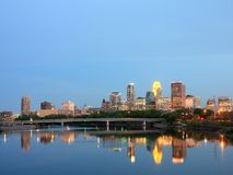 Mississippi and downtown Minneapolis Royalty Free Stock Photography