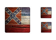 Mississippi Flag Buttons Royalty Free Stock Photo