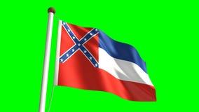 Mississippi flag stock video
