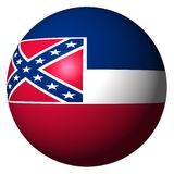 Mississippi flag sphere Royalty Free Stock Images