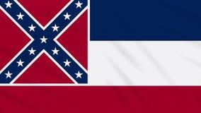 Mississippi-Flagge flattert im Wind, Schleife für Hintergrund lizenzfreie abbildung
