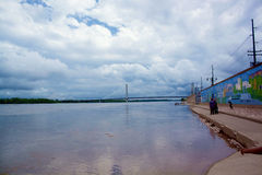 mississippi flod Arkivfoto
