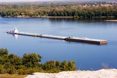 Mississippi-Lastkahn Stockfotografie