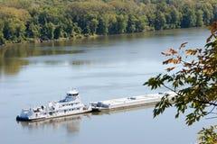 Mississippi-Lastkahn 3 Stockbilder