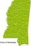Mississippi map stock photo