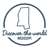 Mississippi Map Outline.  Royalty Free Stock Image