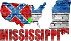 Mississippi na ściana z cegieł Zdjęcie Stock