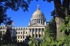 Mississippi påstår Kapitoliumbyggnad, Jackson, ms fotografering för bildbyråer