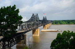 Mississippi Rail Bridge Stock Photos