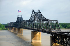 Mississippi Railroad Bridge Royalty Free Stock Photos