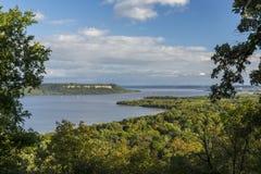 Mississippi River湖风景的Pepin 库存图片