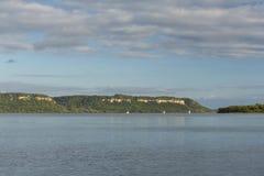 Mississippi River湖风景的Pepin 库存照片