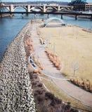 Mississippi River ö Arkivfoto