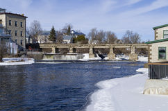 Mississippi River, Almonte, Ontario, Canada Stock Images