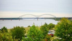 Mississippi River bank arkivbild