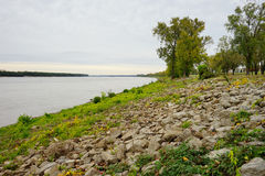 Mississippi river bank Stock Images