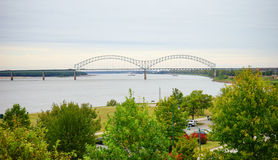 Mississippi river bank. Taken in Memphis Stock Photography