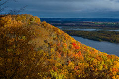 Mississippi river bluff, autumn Royalty Free Stock Photos