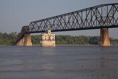 Mississippi River bridge Royalty Free Stock Images