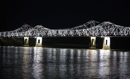 Mississippi River Bridge Royalty Free Stock Image