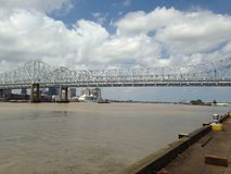 Mississippi River Bridge - New Orleans, Louisiana Royalty Free Stock Photos