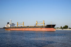 Mississippi river cargo ship Stock Photo