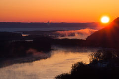 Mississippi River at dawn Stock Photo