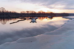 Mississippi River Daybreak in South St Paul Stock Photography