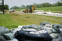 Mississippi River Flood Prevention Stock Image