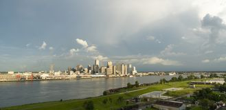 The Mississippi River Flows By The New Orleans Waterfront Royalty Free Stock Photo