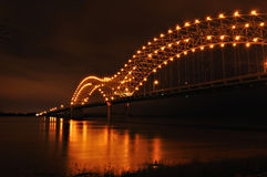 Mississippi River and Hernando de Soto Bridge Stock Image