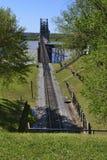 Mississippi River järnvägkorsning Arkivbilder