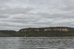 Mississippi River Lake Pepin. Lake Pepin on the Mississippi River during early autumn Stock Photo