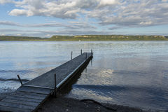 Mississippi River Lake Pepin Scenic. A scenic view of Lake Pepin on the Mississippi River with boat dock during early autumn Stock Images