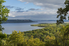 Mississippi River Lake Pepin Scenic Stock Images