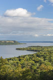 Mississippi River Lake Pepin Scenic. A scenic view of Lake Pepin on the Mississippi River during early autumn Stock Photography