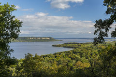 Mississippi River Lake Pepin Scenic. A scenic view of Lake Pepin on the Mississippi River during early autumn Stock Images