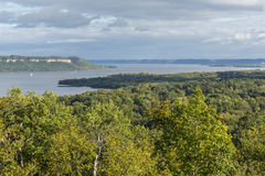 Mississippi River Lake Pepin Scenic. A scenic view of Lake Pepin on the Mississippi River during early autumn Royalty Free Stock Image