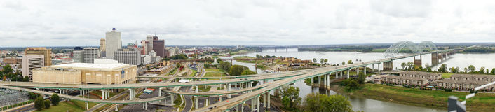 Mississippi river landscape. Taken in Memphis royalty free stock photo