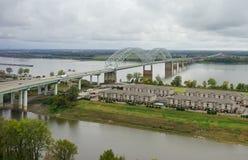 Mississippi river landscape. Taken in Memphis stock photography