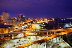 Mississippi river landscape. Taken in Memphis stock photo