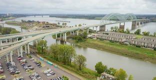Mississippi River landskap fotografering för bildbyråer