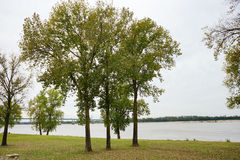 Mississippi river at Memphis. Mississippi river bank landscape, taken in Memphis royalty free stock photography