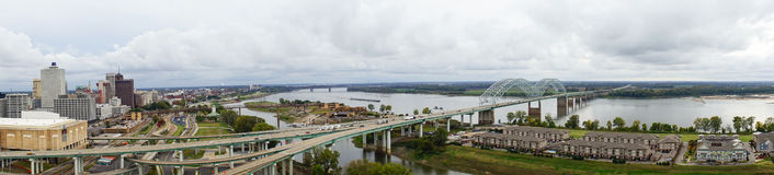 Mississippi river at memphis Royalty Free Stock Photo